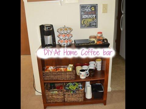 diy at home coffee tea bar by the frugalnista doovi. Black Bedroom Furniture Sets. Home Design Ideas
