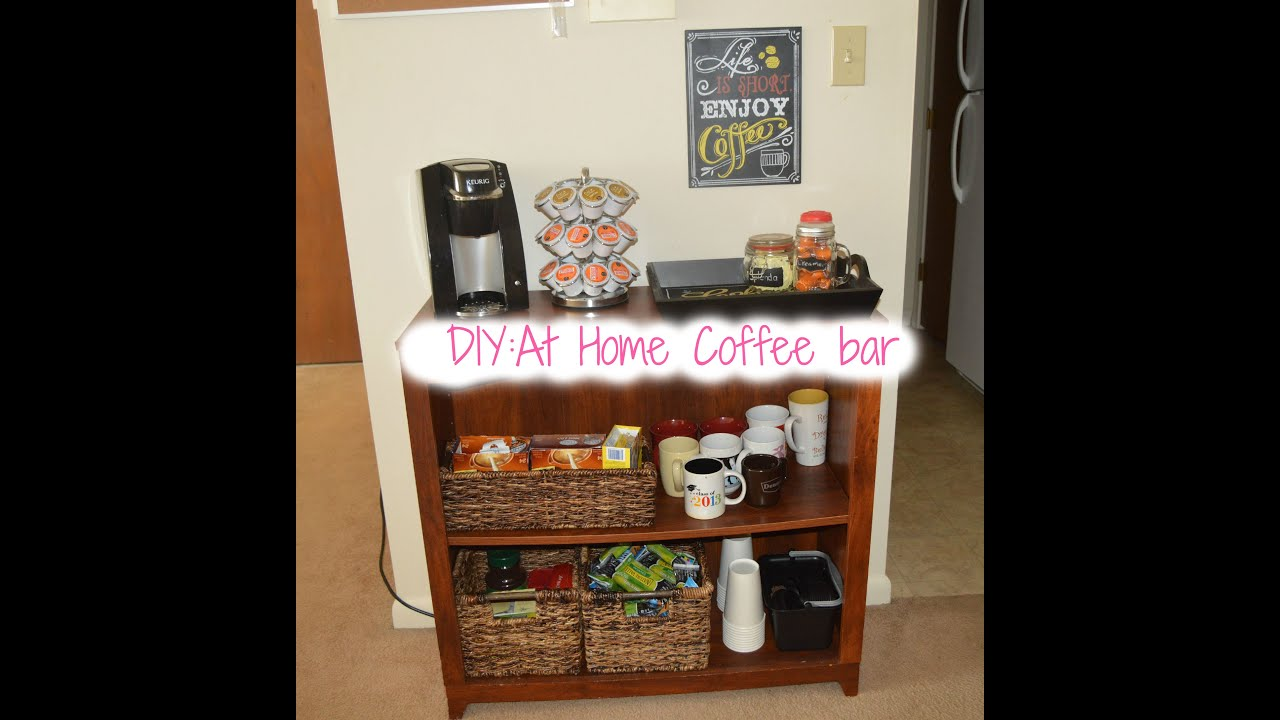 DIY: At Home Coffee Bar!!♡   YouTube