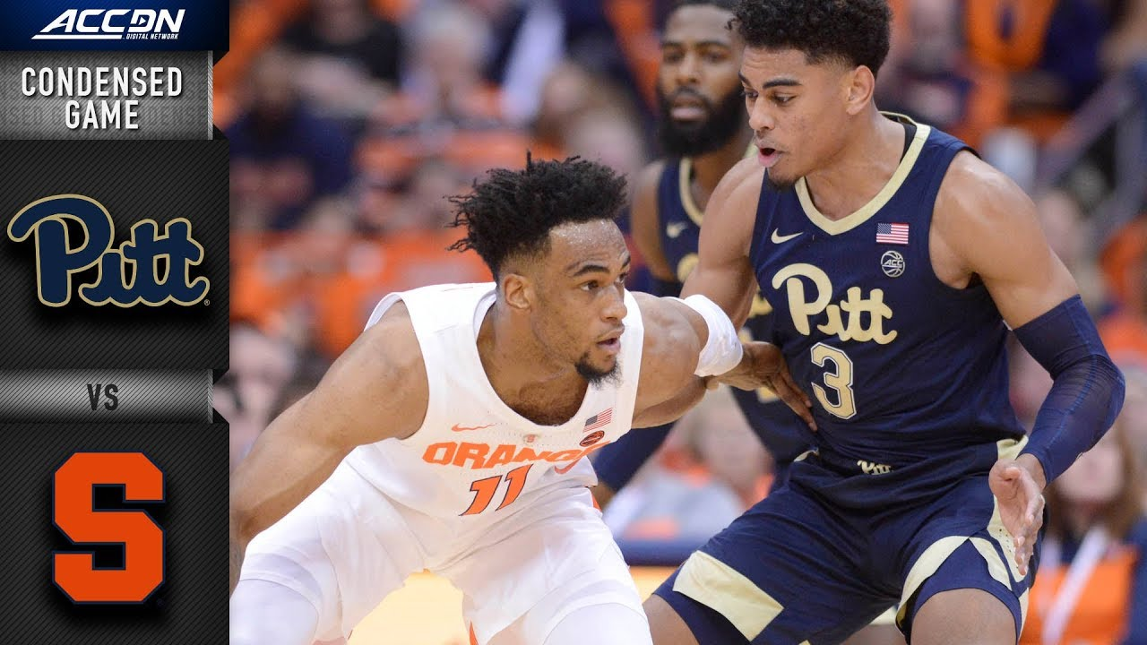 Pittsburgh Vs Syracuse Condensed Game 2018 19 Acc Basketball