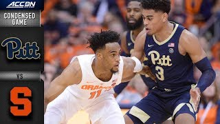 Pittsburgh vs. Syracuse Condensed Game | 2018-19 ACC Basketball