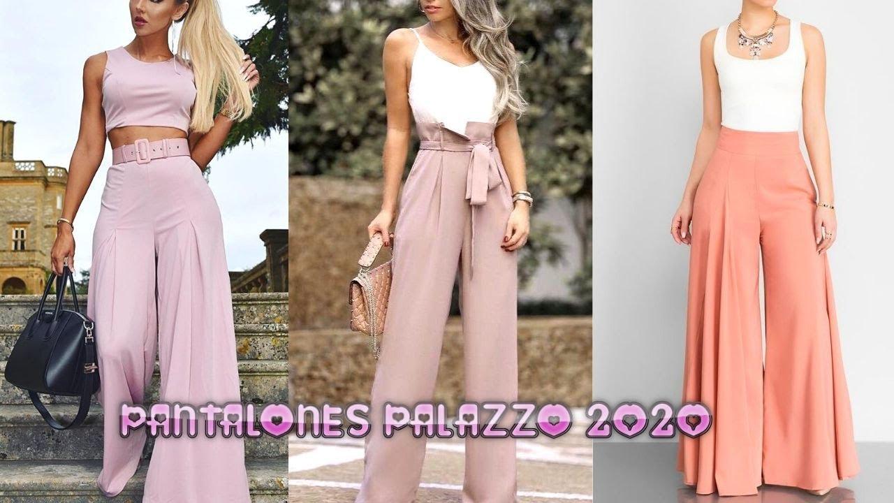 Pantalones Palazzo 2020 Pantalones De Moda Youtube