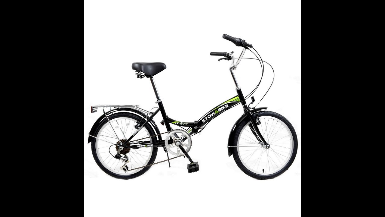 Stowabike 20 folding city v2 compact foldable bike