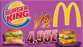 BURGER KING VS MCDO : COMPARAISON MENU A 4.95E
