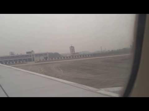 Air Macau flight 198 Macau to Chengdu, China landing