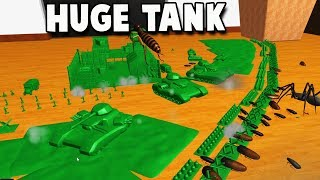 HUGE TANK Defends Army Men Fort From BIGGES BUGS!  (Home Wars Gameplay)
