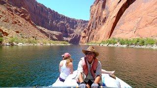 Colorado River Discovery Raft Trip Glen Canyon Dam Horseshoe Bend to Lees Ferry Page Arizona USA 4k