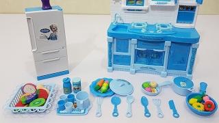 Elsa Cooking Kitchen Toy For Kids, Bé Chơi Đồ Chơi Nấu Ăn Nhà Bếp Elsa, BaBiBum
