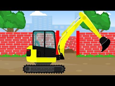 Koparka Cięzarówka Maszyny Budowlane Bajka Dla Dzieci | Excavator Truck Vehicles For Kids