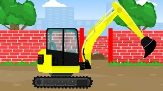 Excavator Truck Vehicles Machinery, Video For Kids