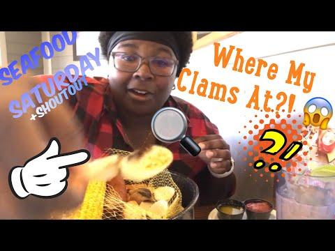 Seafood Boil MUKBANG 🦀   Joes Crab Shack: Snow Crab, Clams, Lobster  ASMR  Mini Eating Show