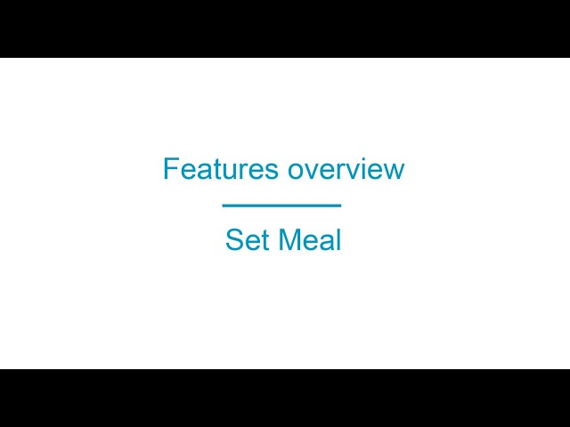 Apprikator.com Features Set Meal