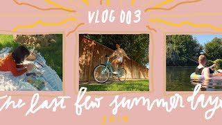 the last moments of summer 🌞 // vlog 003