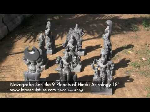 """Navagraha Statue Set of the 9 Planets of Hindu Astrology 18"""""""