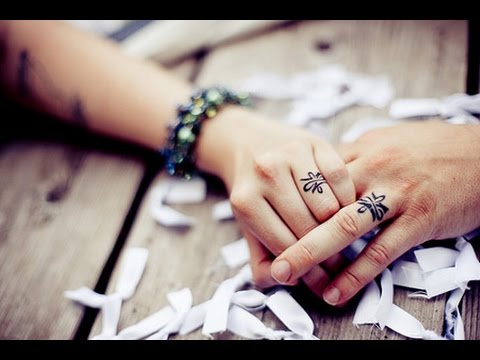 12 Coolest Wedding Ring Tattoo Designs Amazing Tattoo