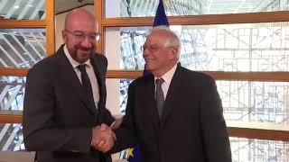 Charles MICHEL, President-elect of the EU Council, receives HRVP designate Josep BORRELL FONTELLES
