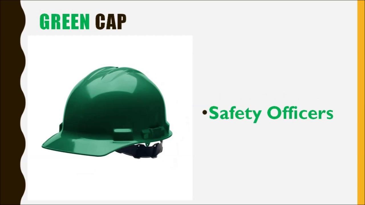 Safety Cap Helmet Color Codes Technical Knowledge Construction