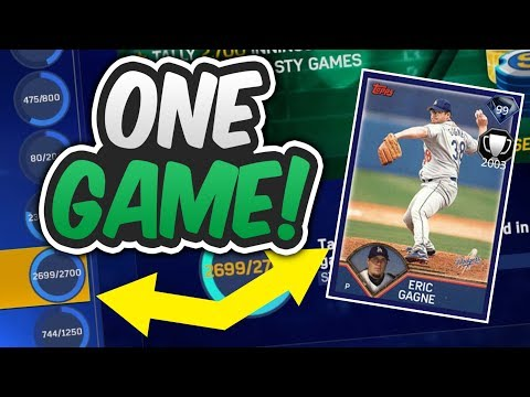 ONE GAME TO GET 99 DIAMOND ERIC GAGNE ~ 14k AND FREE BASES LOADED! | MLB THE SHOW 17 DIAMOND DYNASTY
