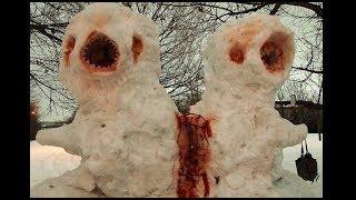 - Лютые снеговики. СНЕГОВИК КРИПОВИК. Смешные и страшные снеговики.
