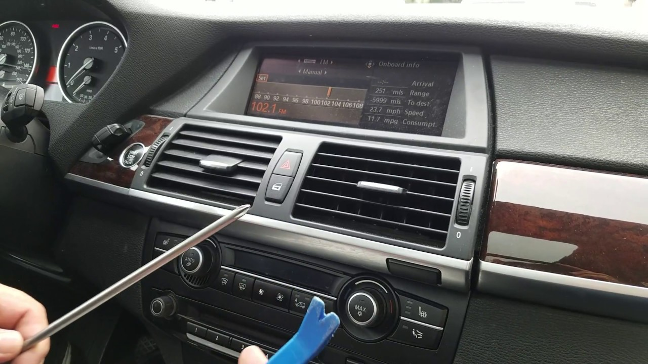 How To Remove Radio Navigation Display From Bmw X5 2009