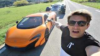 HITCHHIKING TO MONACO IN SUPERCARS!!