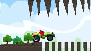Angry Birds Cross Country - UNLOCK GREEN CAR! RACING GRAND PRIX SKILL WHEELIE!