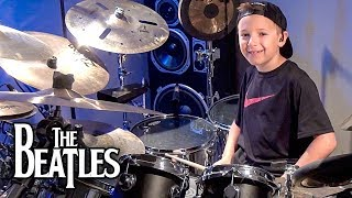 THE END - BEATLES (age 8) Drum Cover by Avery Drummer