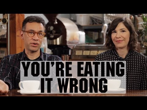 You're Drinking Coffee Wrong (with Fred Armisen and Carrie Brownstein) | Food Network from YouTube · Duration:  2 minutes 58 seconds
