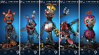 FNAF AR Molten Toy Animatronics Jumpscare & Workshop Animations