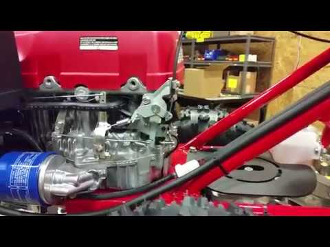 Turf Teq Tractor - Honda GXV390 Choke/Throttle Adjustment - YouTubeYouTube