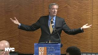 Mayor de Blasio Delivers Remarks at the CUNY Caucus Luncheon