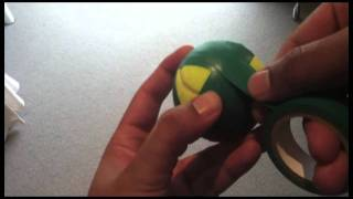 Taping A Tennis Ball For Backyard Cricket