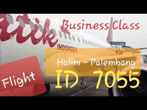Batik Air ID 7055 Jakarta (HLP) - Palembang (PLM) Business Class Flight Experience