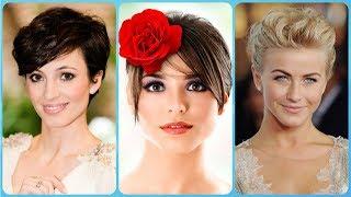 Modne krótkie fryzury damskie na wesele