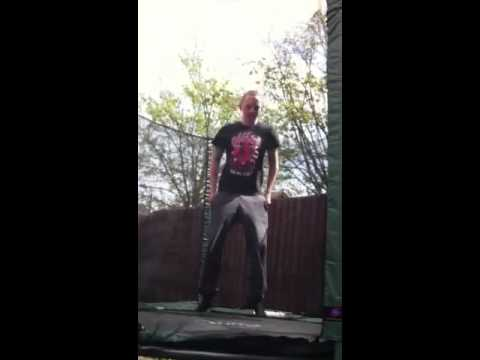 Pants fall down an get caught on the net in attempted backf