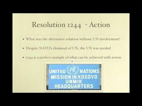Politics of the United Nations - Kosovo