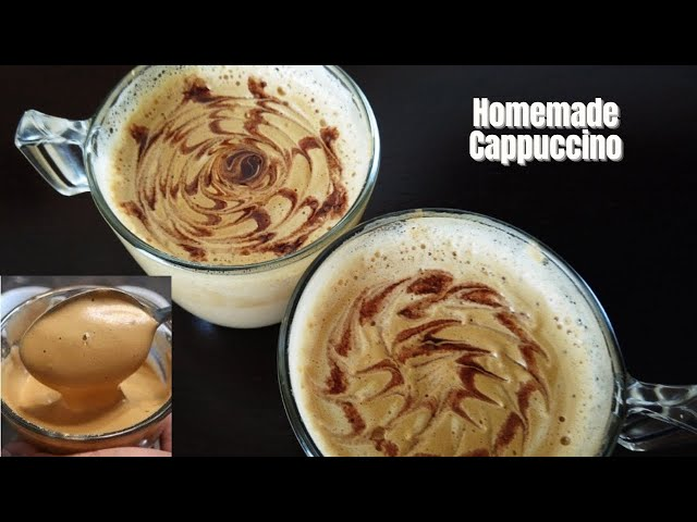 Perfect Homemade Cappuccino | Make a Creamy Coffee at Home | Desert Food Feed