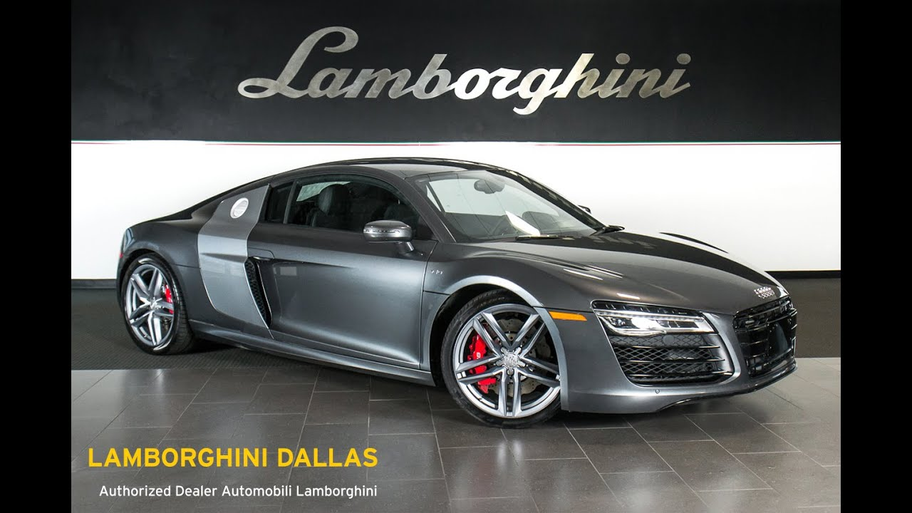 How To Get A Free Carfax Report >> 2015 Audi R8 v10 Daytona Grey Pearl LT0748 - YouTube