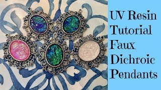 Uv Resin Tutorial Creating Faux Dichroic Pendants Plus Giveaway See Description