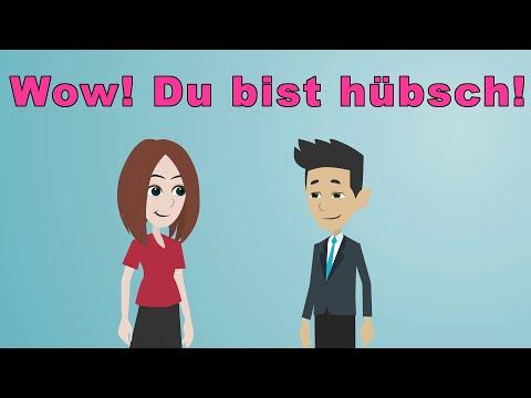 Deutsch lernen   Max fragt Sarah nach ihrer Nummer