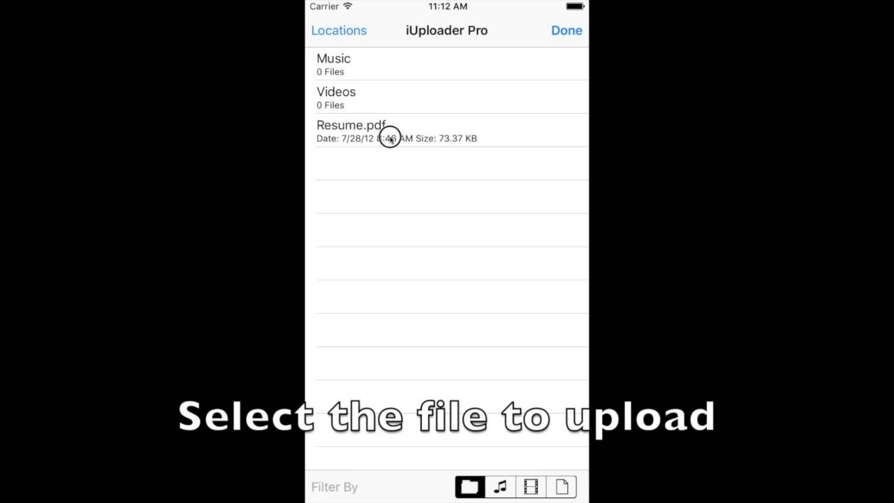 iUploader Pro - How to upload from your iPad or iPhone - YouTube