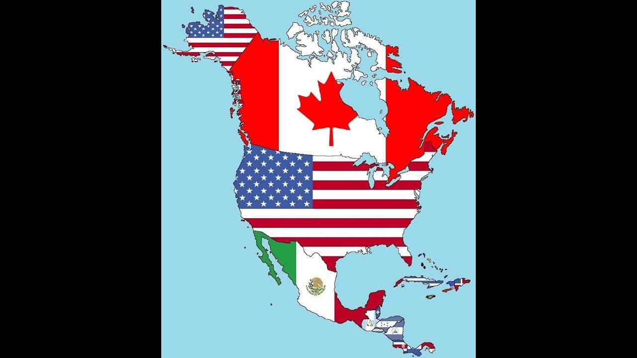 América Del Norte Banderas Mapa De America Del Sur America Del Norte Mapa Mapa De America Latina
