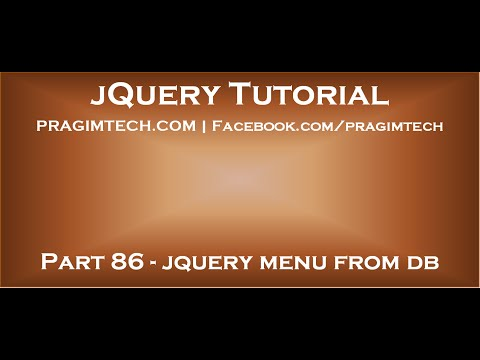 jQuery dynamic menu from database in asp net