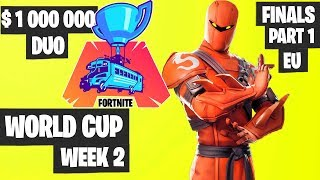 Fortnite World Cup WEEK 2 Highlights - Final Part 1 EU DUO [Fortnite Tournament 2019]