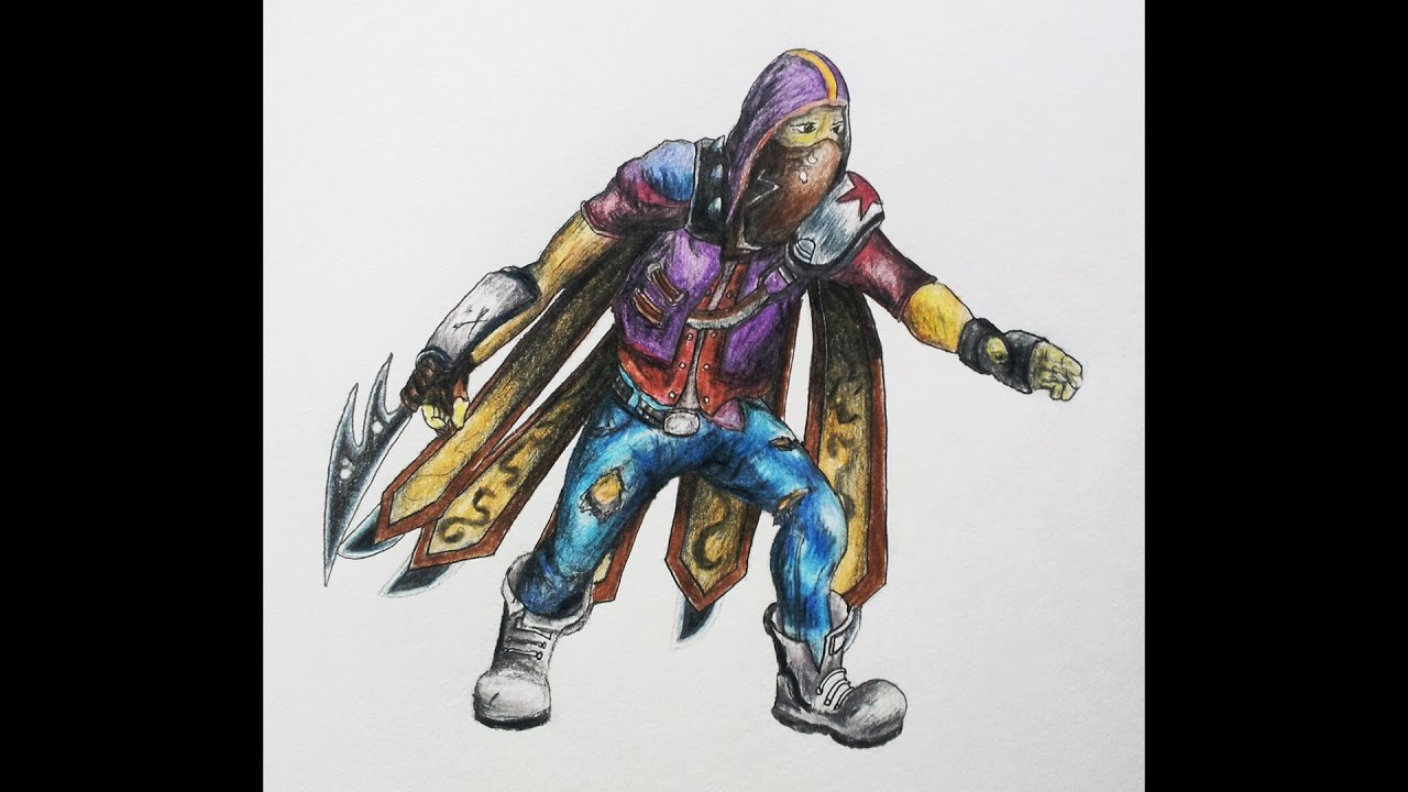 Drawing Renegade Talon - League of Legends Drawings - YouTube