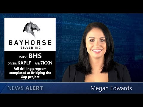 Bayhorse Silver ~ Fall drilling program completed at Bridging the Gap Silver/Lead/Zinc project