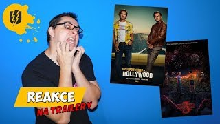 """Reakce na Trailery """"Once Upon a Time in Hollywood"""" a """"Stranger Things 3"""""""