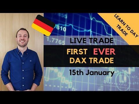 First Ever DAX Live Day Trade – 15th January