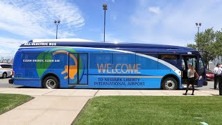 Newark Airport is going green with new buses!