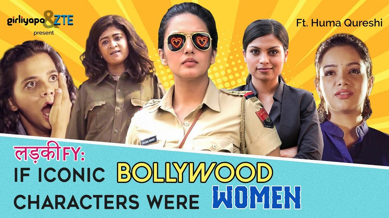 If Iconic Bollywood Characters Were Women feat  Huma Qureshi | Girliyapa