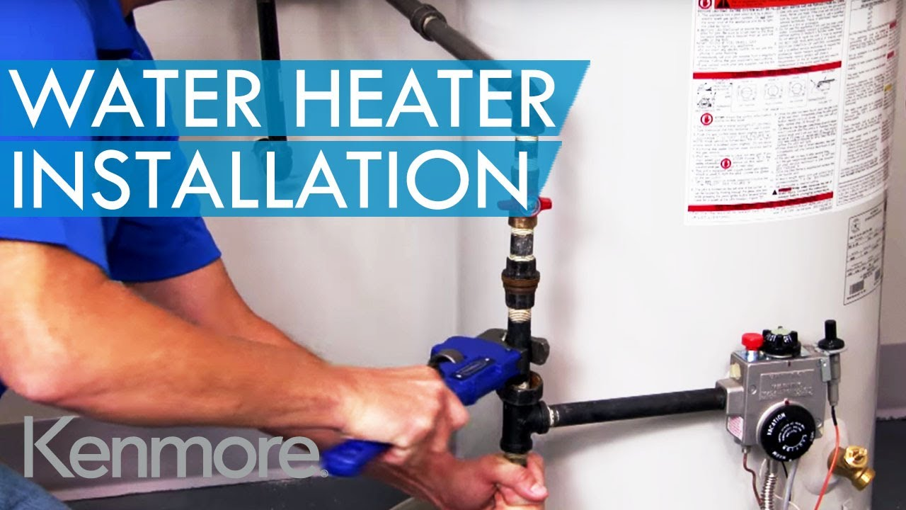 The Sears Water Heater Installation Process - YouTube on ruud water heater wiring diagram, bradford white water heater wiring diagram, ao smith water heater wiring diagram, rheem water heater wiring diagram,